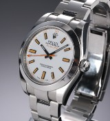 Rolex 'Milgauss' men's watch, steel, white dial, c. 2007