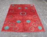 Teppich, Wolle auf Baumwolle, ca. 203 x 144 cm