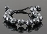 Hand woven antracite bracelet