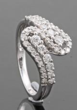 18kt. diamond ring approx. 0.64ct