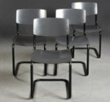 Mart Stam, cantilever chairs, four chairs model S 43 by Thonet (4)