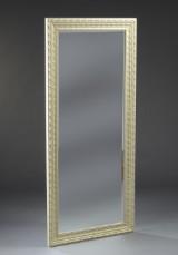Spejl med hvid ramme