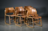 David Rowland. Six stackable chairs, model 40/4 (6)