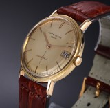 Patek Philippe 'Calatrava Monodate'. Men's watch, 18 kt. gold case, c. 1964