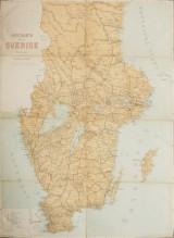 Postkarta öfver Sverige i två delar 1899
