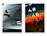 Brian Bjeldbak. To kompositioner fra fotokunst-serien 'Havnens Lys'. Fotografi på inkjet papir (2)