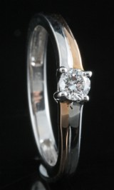 14kt diamond solitaire ring approx. 0.23ct