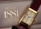 Movado '1881' men's watch, 18 kt. gold, separate second hand, 1990's