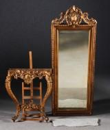 Spegel med konsolbord, nyrokoko, 1800-tal