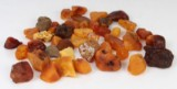 Danish amber, from Blåvand, unpolished pieces approx. 440 g.