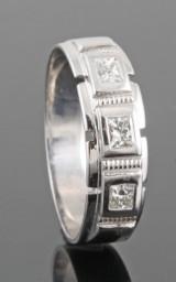 18kt diamond gent ring approx. 0.30ct