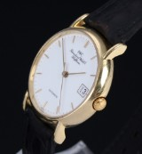 IWC Portofino men's watch, 18 kt. gold, white dial with date, 2000's