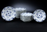Royal Copenhagen. Blue Fluted Pattern, Full Lace, plates (23)