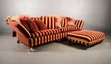 Sofa, according to information received from produced for Buckingham Palace and subsequently put into limited production, with ottoman