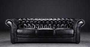 ware 3069258 3 sitzer chesterfield sofa schwarz. Black Bedroom Furniture Sets. Home Design Ideas