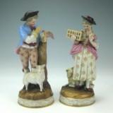 Plaue, Paar Figuren 'Liebespaar mit Brieftaube' (2)