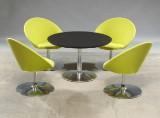 Nanna Ditzel. Fire 'Icon' lounge stole model '2659' samt rundt bord (5)