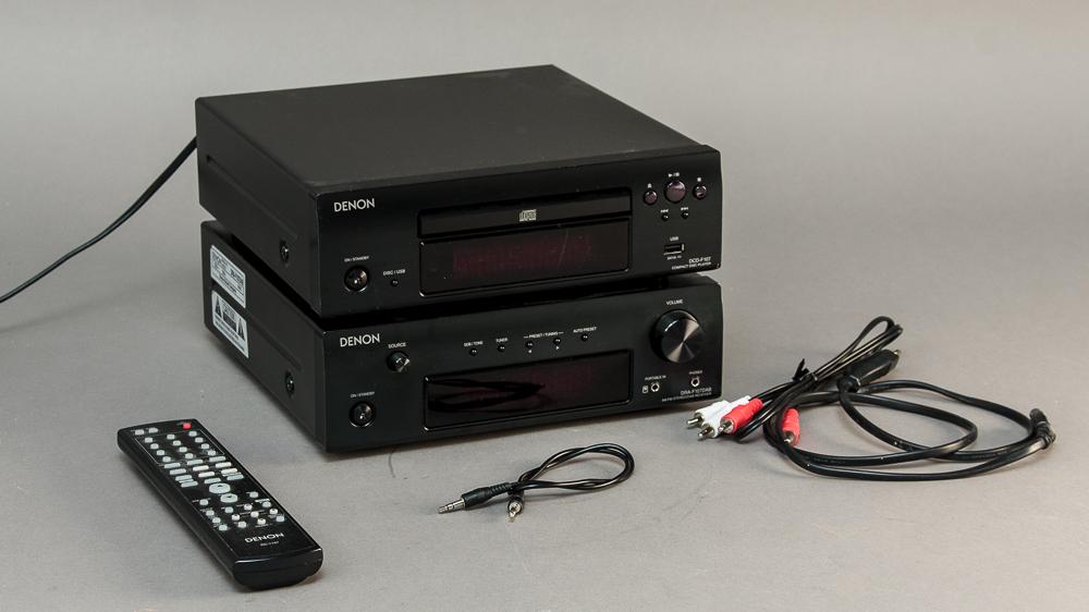 Denon DCD-F107 CD og AM/FM stereo F107 DAB radio - Denon DCD-F107 CD og AM/FM stereo F107 DAB radio, inkl. kabler og remotekontrol samt brugervejledning medfølger. Brugsspor. Lauritz.com indestår ikke for funktionaliteten