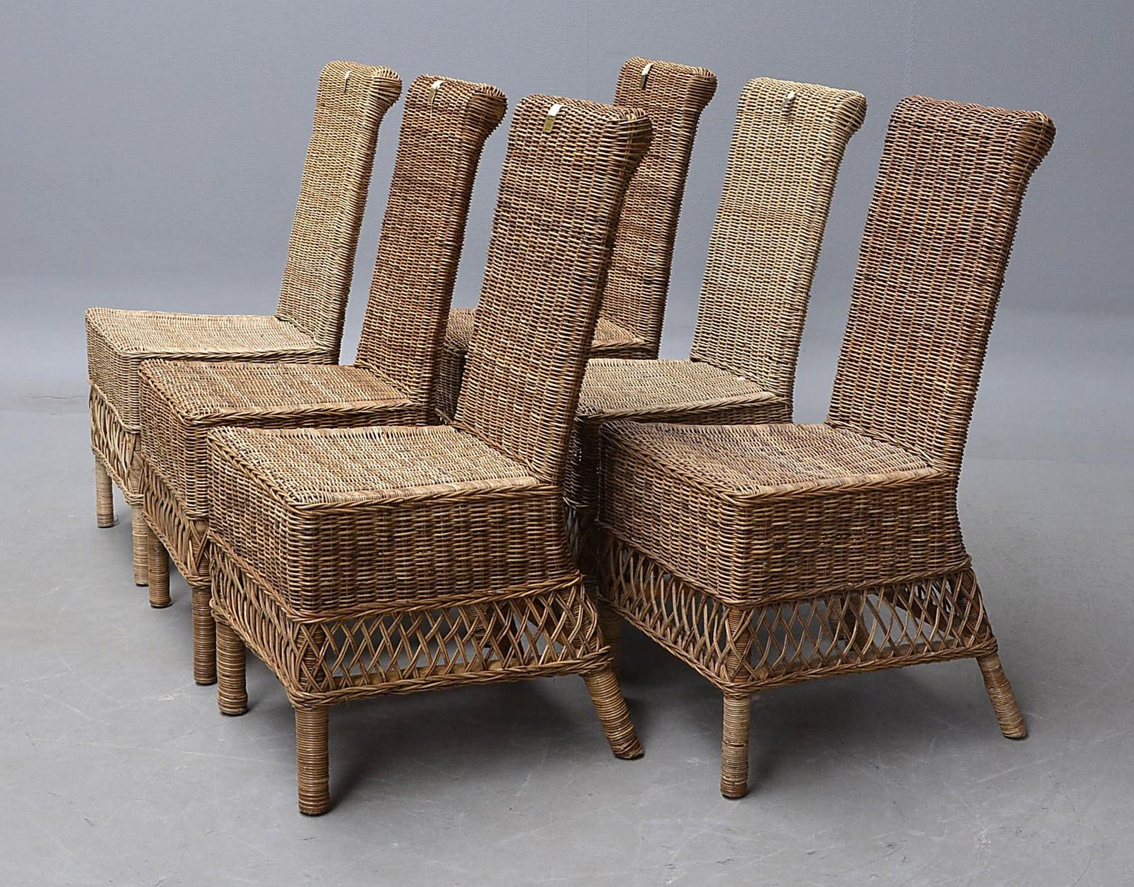 Riviera maison st malo et sæt på seks højryggede stole af