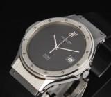 Hublot MDM Classic unisex watch, steel, black dial, date