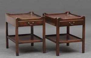Par engelske natborde af mahogni 2