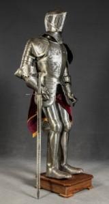 Ritterrüstung 'Heinrich der Löwe' Prunkrüstung.