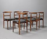 Arne Vodder & Helge Sibast, six chairs