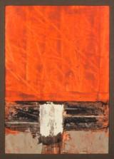 Gemälde, Abstrakte Kompostion in Rot, Grau, Schwarz und Weiß