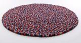 Håndlavet kugle tæppe, Ø 140 cm