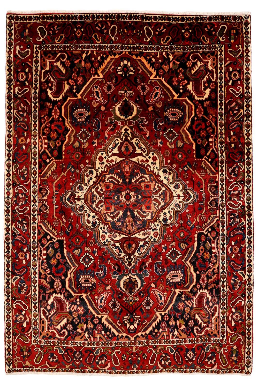 Persisk Bakhtiari tæppe, 312x214 cm - Persisk Bakhtiari tæppe, uld på bomuld. 312x214 cm