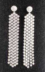 Diamantohrstecker, 14 kt. Weißgold, 7.30 ct. Länge ca. 7 cm (2)