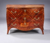 Rococo/Louis XVI chest of drawers, c. 1770, probably German