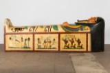 A sarcophagus, Hollywood Studios prop, 1950s