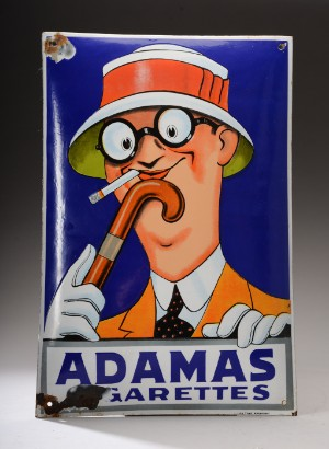 Adamas Cigarettes emaljeskilt . adamas cigarettes | lauritz