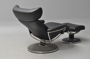Stressless. Lænestol med skammel, læder, model Jazz. (2