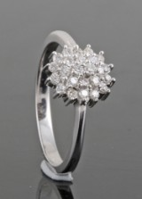 Diamond ring, 14kt. white gold, approx. 0.31ct.