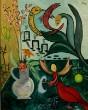Nora Minora, Acryl auf Leinwand, 'Stillleben mit Vase'