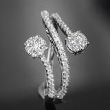 Diamond ring, approx. 0.63 ct.