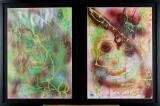 Biederwolf, målningar inramade (2)