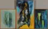 Mads Høje. Tre kompositioner. Akryl på plade (3)