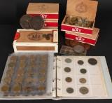 Mønter med 1 skilling fejltryk og sølvmønter med mere