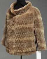 Brdr. Alex Petersen. Short jacket, woven reversible mink