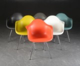Charles Eames. A set of six armchairs, model DAX (6)