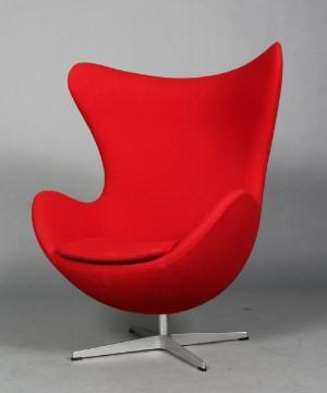arne jacobsen sessel 39 das ei 39 rote hallingdal wolle. Black Bedroom Furniture Sets. Home Design Ideas