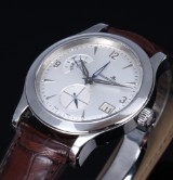 Jaeger-LeCoultre 'Master Control Hometime'. Men's watch, steel, with silver-coloured dial, certificate 2007
