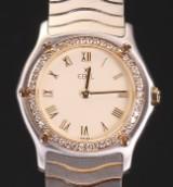 Ebel damearmbåndsur af guld 18 kt. og stål med diamanter