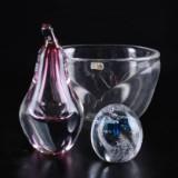 Studio Åhus. Tre glasföremål (3)