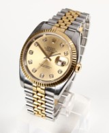 Rolex Oyster Perpetual Datejust, men's watch with diamonds
