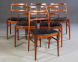Arne Vodder, sechs Stühle Modell 430 für Sibast (6)
