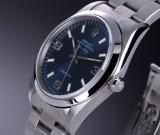 Rolex 'Air-King Precision'. Herreur i stål med blå skive - cert. 1998